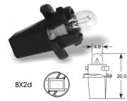 12V 1.2W BX2D black