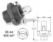 12V 1,2W Bx8,4d LUCAS