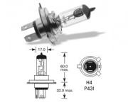12V 100/90W P43t H4 Halogen