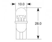 12V 23mA W2,1x9,5d T10 LED