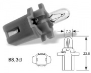 24V 1.2W B8.3d grey