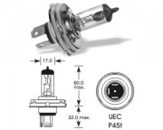 6V 60/55W P45t Halogen H4AS