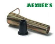 Antikink spring and rubber seal