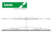 LUCAS-Rear blade 400mm,Ford KA