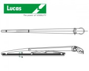 LUCAS-Rear blade with arm,Fit E,330mm