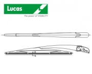 LUCAS-Rear blade with arm,Fit F,350mm
