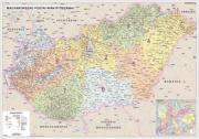 N�stenn� mapa Ma�arsko PS� laminovan�
