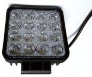 Pracovné svetlo 16 LED - 16x3W, 9-32V, 3700 Lumenov - L0081
