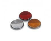 Reflector 60mm round amber adhesive