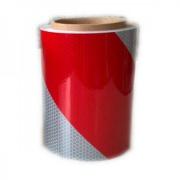 Reflexná fólia ORAFOL červeno-biela, tr. reflexnosti 3,   141 mm - pravá