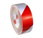 Reflexná páska červeno-biela 5 cm PRAVÁ