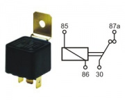 Relay norm.closed 24V 10A 4 pins w.brac.