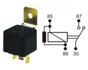 Relay norm.open 12V 30A 4pins w.resistor