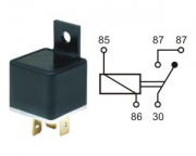 Relay norm.open 24V 20A 5 pins w.bracket