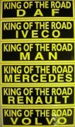 Samolepka  KING OF THE ROAD - 130x460mm
