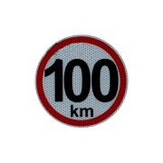 Samolepka konštr. rýchlosti 100 km reflexná 2.tr. (15 cm)