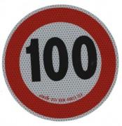 Samolepka konštr. rýchlosti 100km reflexná tr. 2