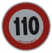 Samolepka konštr. rýchlosti 110km reflexná tr. 2