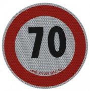 Samolepka konštr. rýchlosti 70km reflexná tr. 2