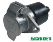 Socket 7p 24V metal N,flat type contact