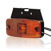 Svetlo pozičné 1 LED W46u 12-24V oranžové s držiakom