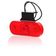 Svetlo pozičné 1 LED W47u 12-24V červené s držiakom