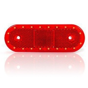 Svetlo pozičné 20 LED W47wwu 12-24V červené