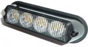 Svetlo stroboskopické 4x LED 12/24V oranžové (R65, R10)